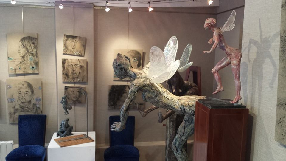 angel- ybah scultture- gallery karin carton